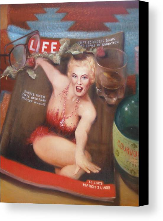 Realism Canvas Print featuring the painting Life In The Fifties by Donelli DiMaria