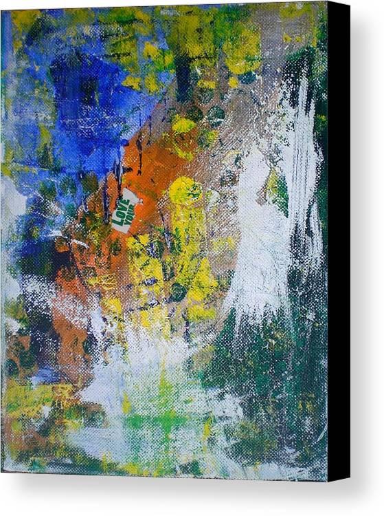 Canvas Print featuring the mixed media Love Angel by Aleksandra Buha