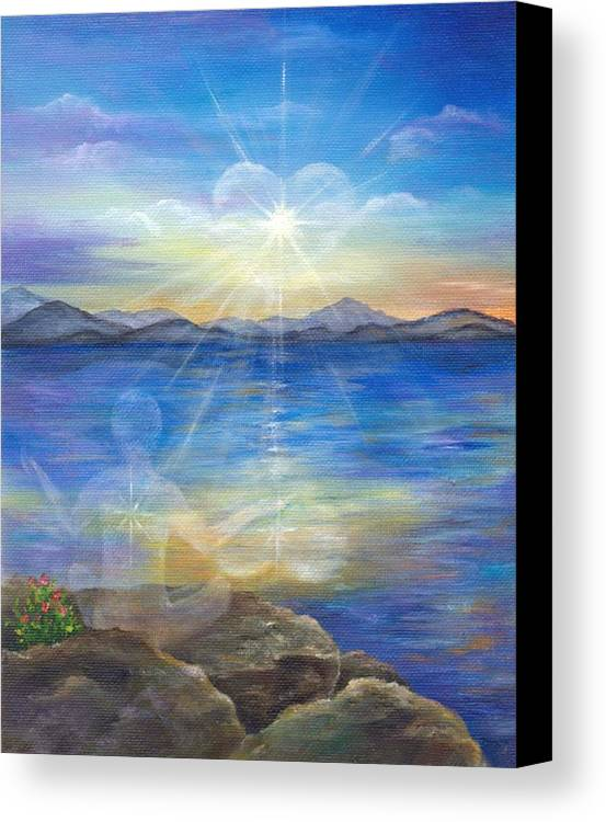 Landscape Canvas Print featuring the painting Loving Thyself by Sundara Fawn