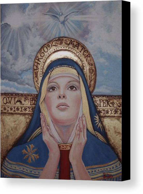 Portrait Canvas Print featuring the painting Madonna by Diann Baggett