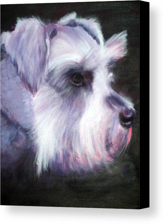 Dog Canvas Print featuring the painting Maizee by Fiona Jack