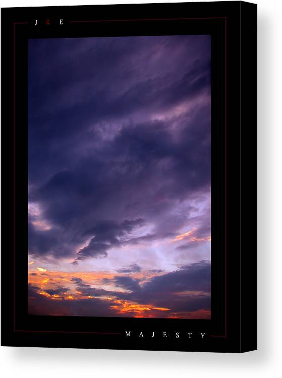 Sky Canvas Print featuring the photograph Majesty by Jonathan Ellis Keys