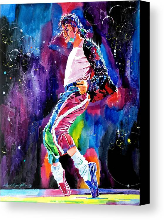 Michael Jackson Canvas Print featuring the painting Michael Jackson Dance by David Lloyd Glover