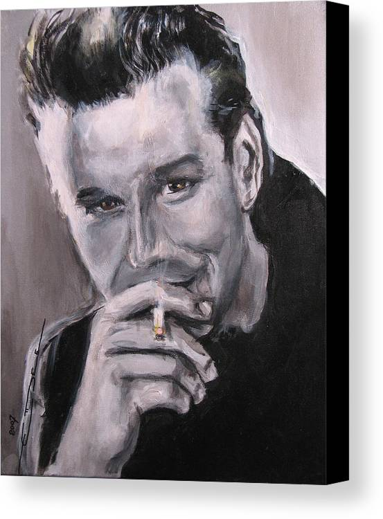 Mickey Rourke Canvas Print featuring the painting Mickey Rourke by Eric Dee