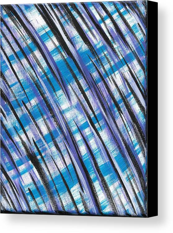 Abstract Canvas Print featuring the painting Midnight Over Spring by Eric Atherton