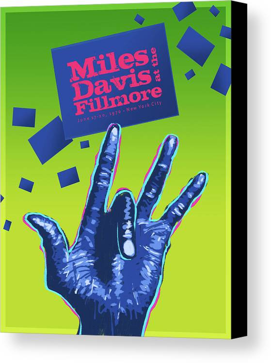 Jazz Canvas Print featuring the digital art Miles At The Fillmore by Mura Barker