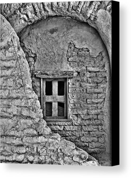 Mission Canvas Print featuring the photograph Mission Window by Dennis Sullivan