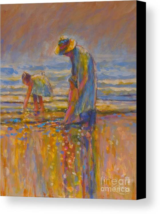 Children Canvas Print featuring the painting Mom by Kip Decker