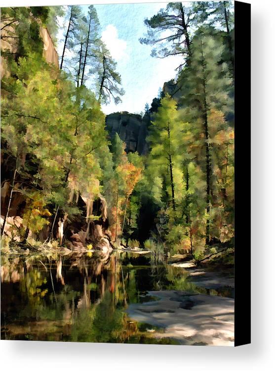 Oak Creek Arizona Canvas Print featuring the photograph Morning At Oak Creek Arizona by Kurt Van Wagner