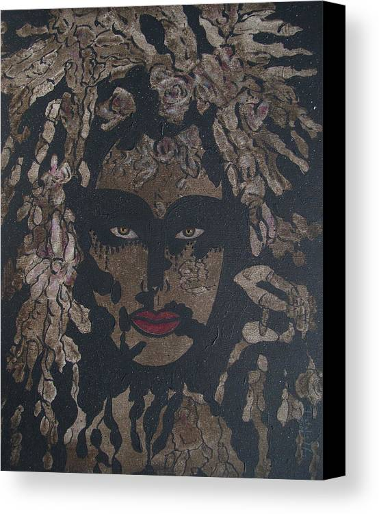 Figurative Canvas Print featuring the painting Mysterious Desire by Natalie Holland