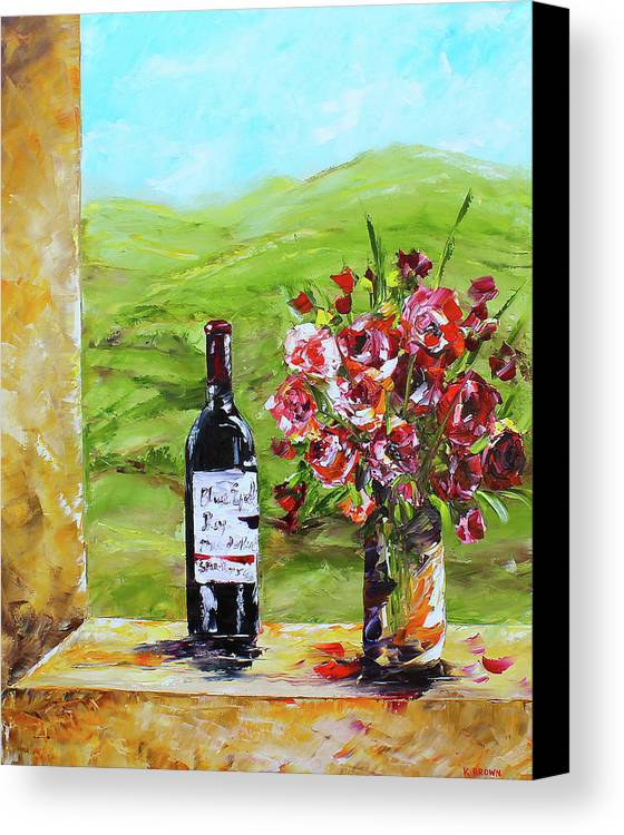 Red Wine Canvas Print featuring the painting Napa Valley by Kevin Brown