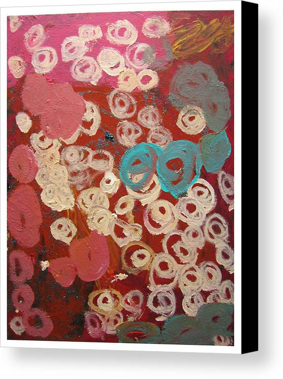 Abstract Canvas Print featuring the mixed media Natural Formation by Kim Putney