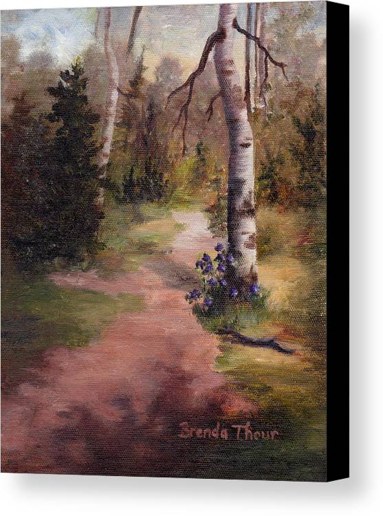 Landscape Canvas Print featuring the painting Natures' Trail by Brenda Thour