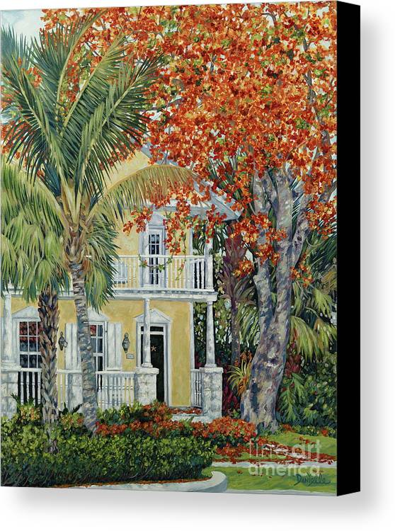 Tamarind Tree Canvas Print featuring the painting Old Flame by Danielle Perry