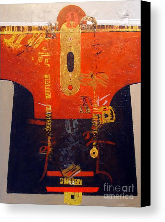 Abstract Canvas Print featuring the painting Ornamental Kimono by Dale Witherow