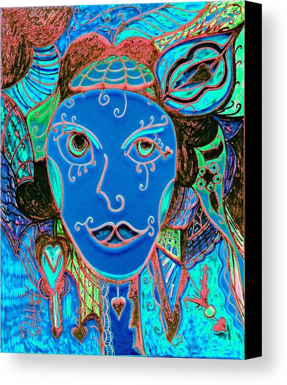 Party Girl Canvas Print featuring the painting Party Girl by Natalie Holland