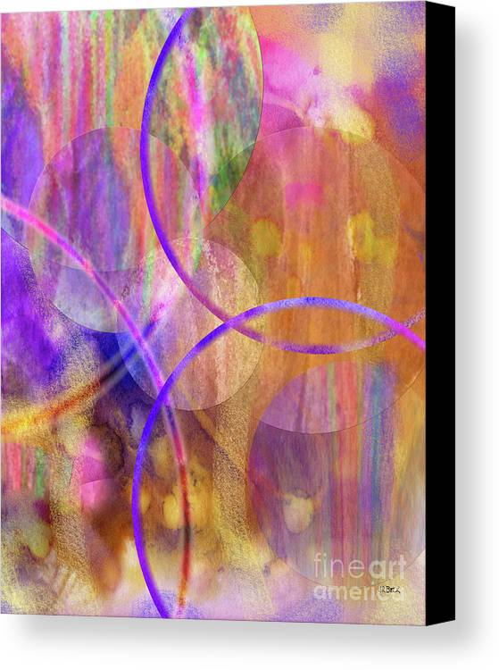 Pastel Planets Canvas Print featuring the digital art Pastel Planets by John Beck