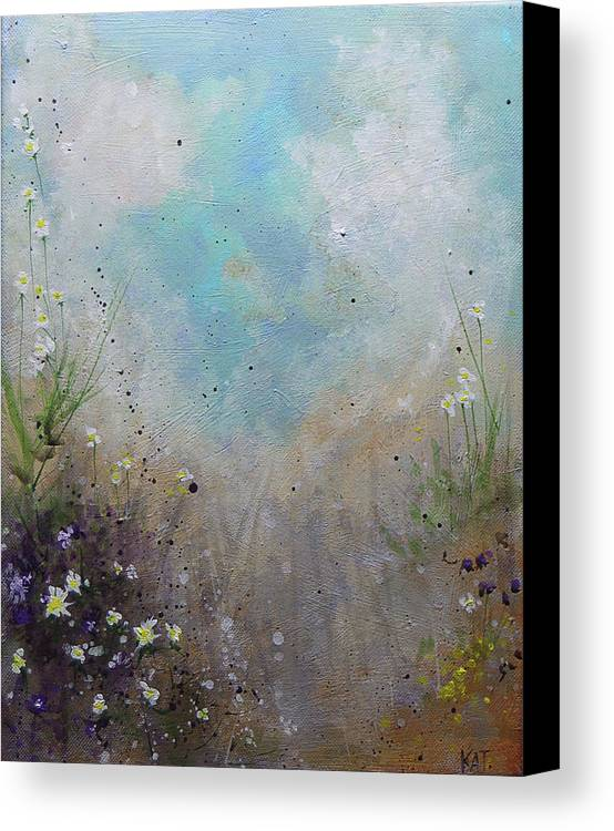 Beach Canvas Print featuring the painting Pathway by KAT Warren