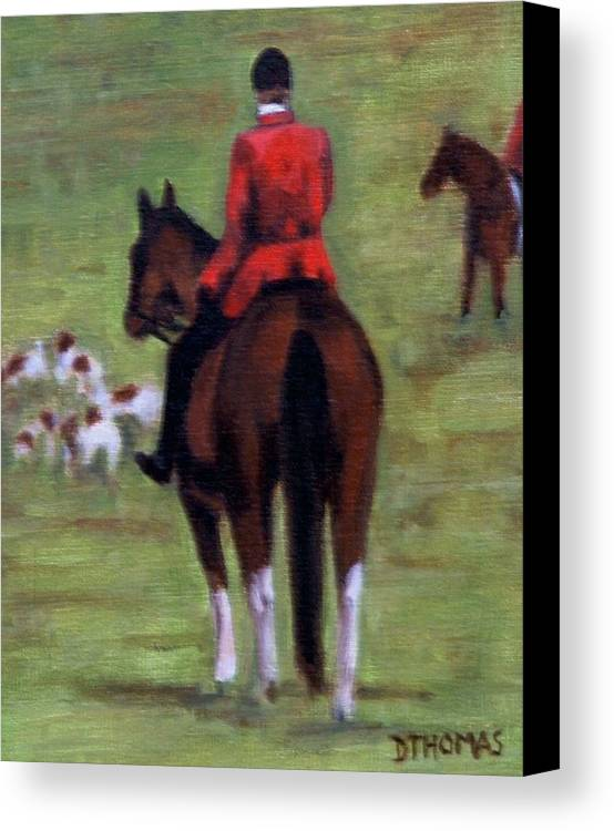 Horse Canvas Print featuring the painting Pause by Donna Thomas