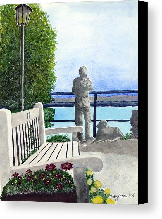 Statues Canvas Print featuring the print Peaceful Langley by Mary Gaines