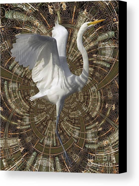 Bird Canvas Print featuring the digital art Phoenix Rising by Chuck Brittenham