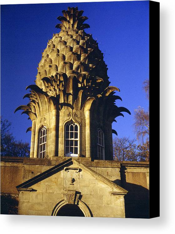 Architecture Canvas Print featuring the photograph Pineapple In Scotland by Donald Buchanan