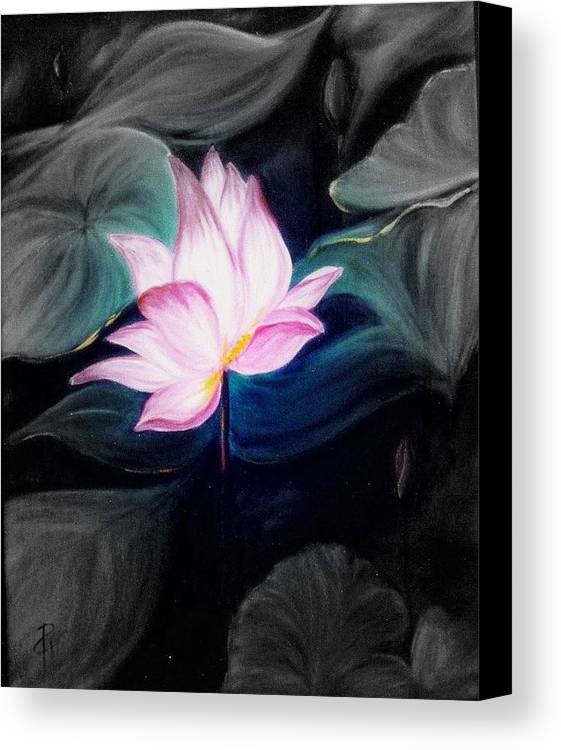 Lotus Canvas Print featuring the painting Pink Lotus by Dina Holland