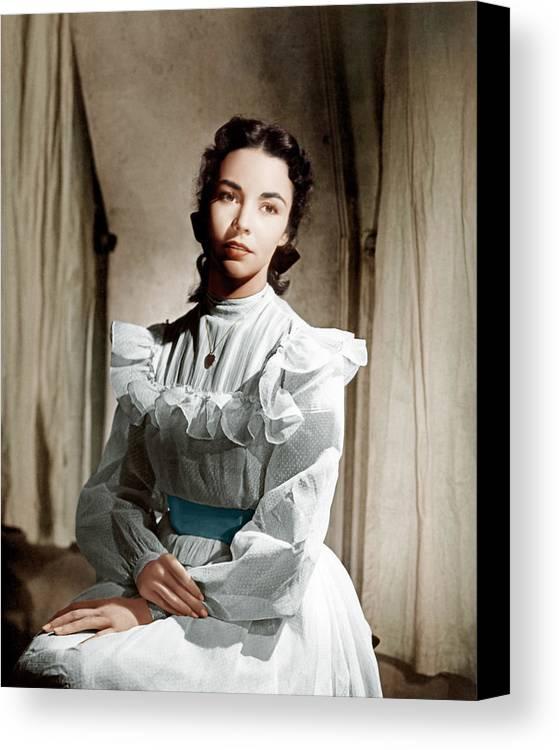 1940s Portraits Canvas Print featuring the photograph Portrait Of Jennie, Jennifer Jones, 1948 by Everett