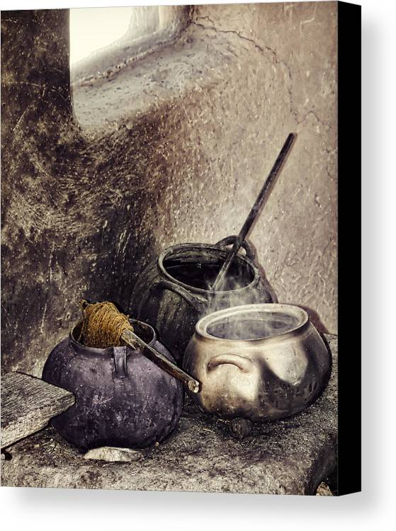 Still Life Canvas Print featuring the photograph Pottery Of The South by Stephen Rudolph