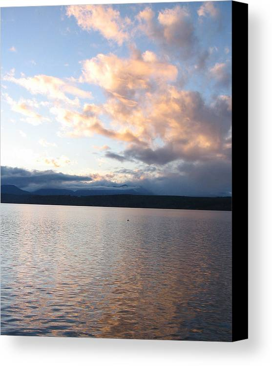 Sunset Canvas Print featuring the photograph Poulsbo Sunset by Ty Nichols