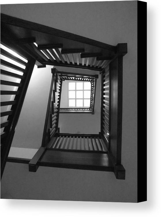 Chicago Canvas Print featuring the photograph Prairie House Stairs by Anna Villarreal Garbis
