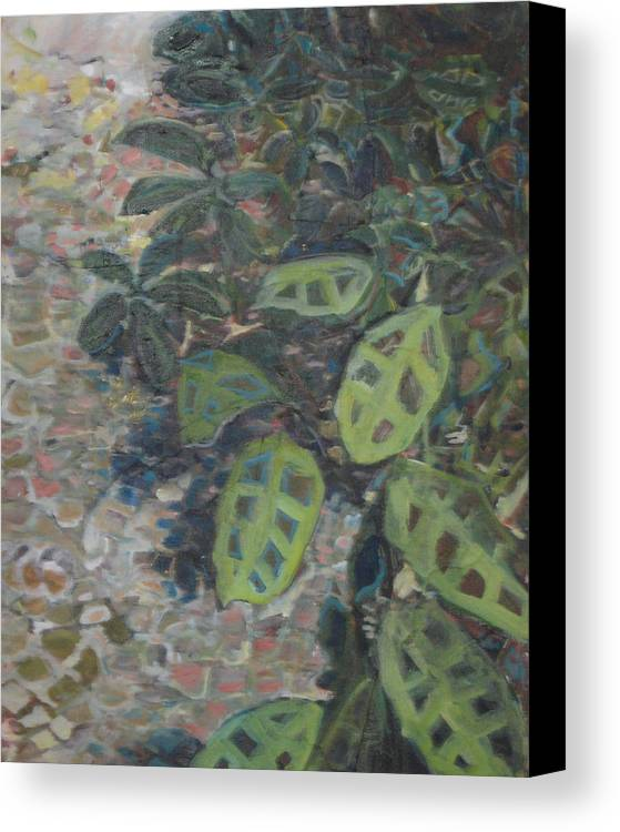 Garden Canvas Print featuring the painting Prayer Plant by Alicia Kroll