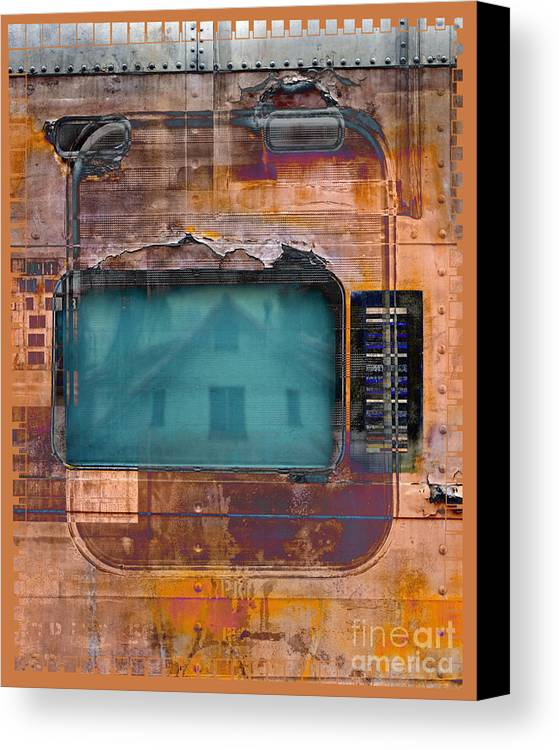Train Canvas Print featuring the digital art Pullman Reflections by Chuck Brittenham