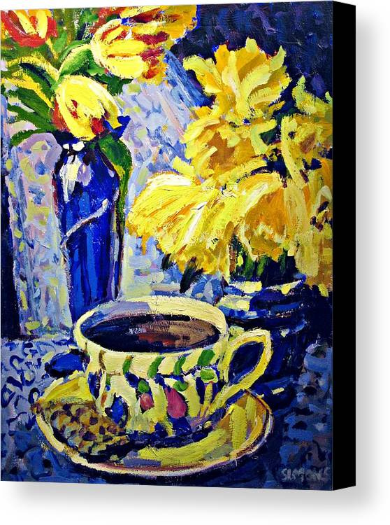 Still Life Canvas Print featuring the painting Quiet Moment by Brian Simons