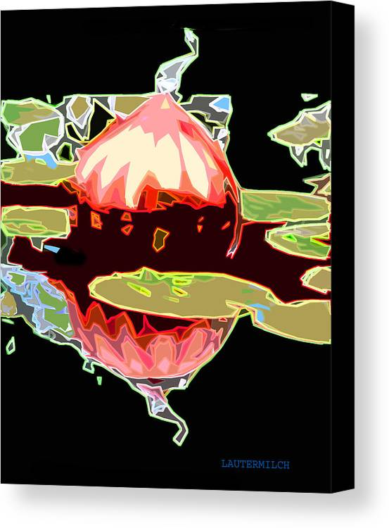 Glass Canvas Print featuring the photograph Red Glass Design by John Lautermilch