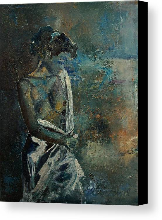 Nude Canvas Print featuring the painting Roman Nude 45 by Pol Ledent