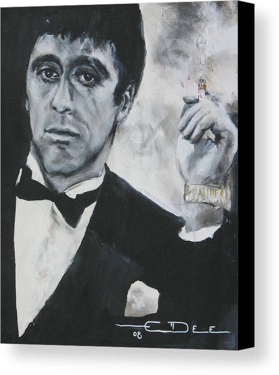 Al Pacino Canvas Print featuring the painting Scarface2 by Eric Dee