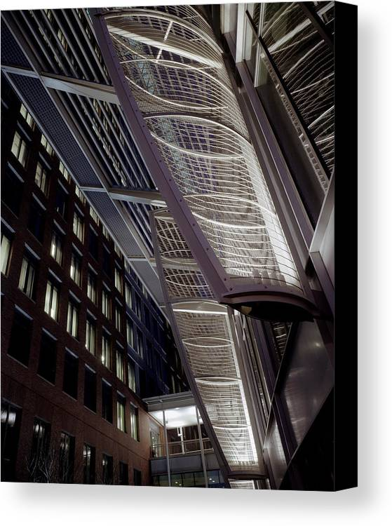 Architecture Canvas Print featuring the photograph Seaport2 by Robert Ruscansky