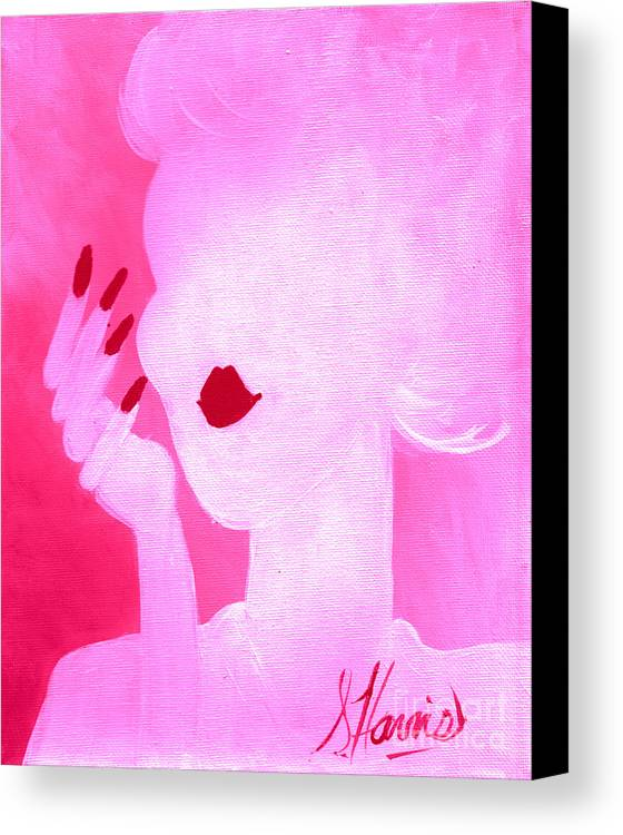 She's A Lady Very Pink Canvas Print featuring the digital art She's A Lady Very Pink by Susan Harris