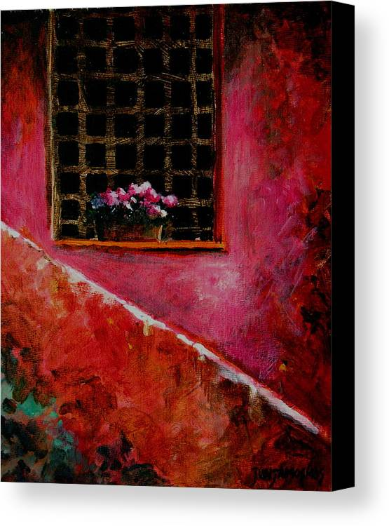 Window Canvas Print featuring the painting Sicilian Window by Jun Jamosmos