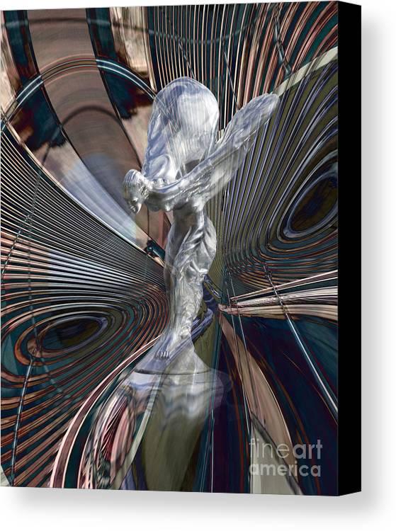 Car Canvas Print featuring the digital art Silver Shadow by Chuck Brittenham