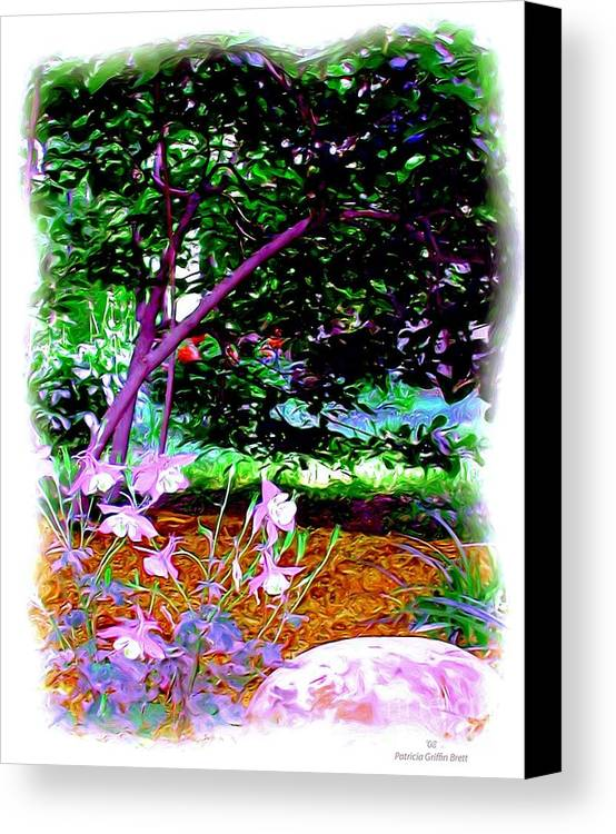 Fine Art Canvas Print featuring the painting Sitting In The Shade by Patricia Griffin Brett