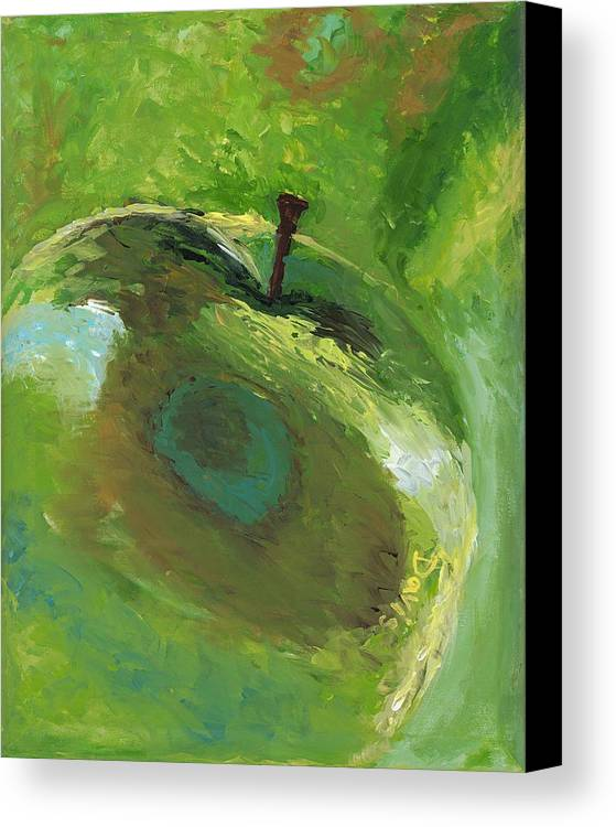 Food Canvas Print featuring the painting Snazzy Apple by Davis Elliott