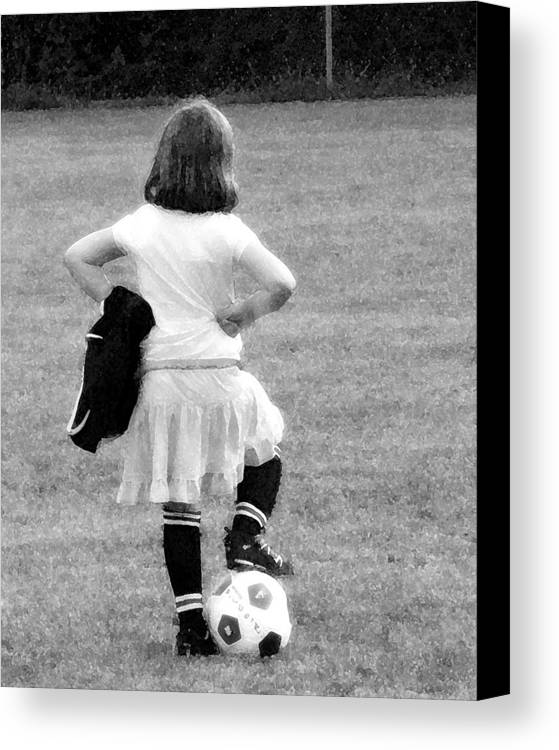 Soccer Canvas Print featuring the photograph Soccer Fashionista by Keith Campagna