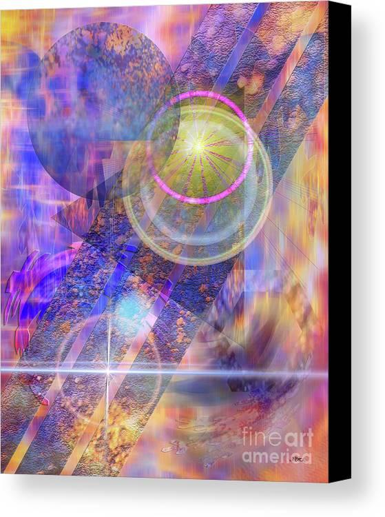 Solar Progression Canvas Print featuring the digital art Solar Progression by John Beck