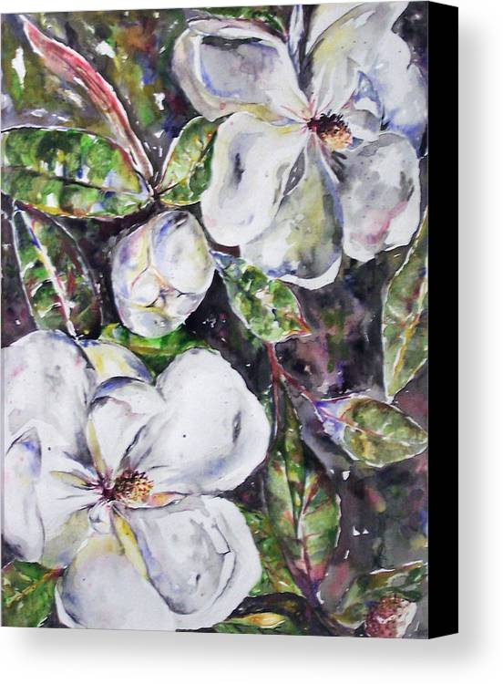 Magnolia Canvas Print featuring the painting Sold Steal Magnolias by Amanda Sanford