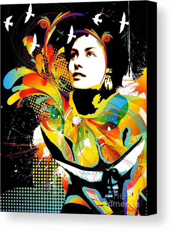 Nostalgic Seduction Canvas Print featuring the digital art Soul Explosion II by Chris Andruskiewicz