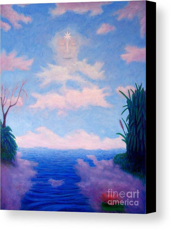 Buddha Canvas Print featuring the painting Spirit Of The Lake by Brian Commerford