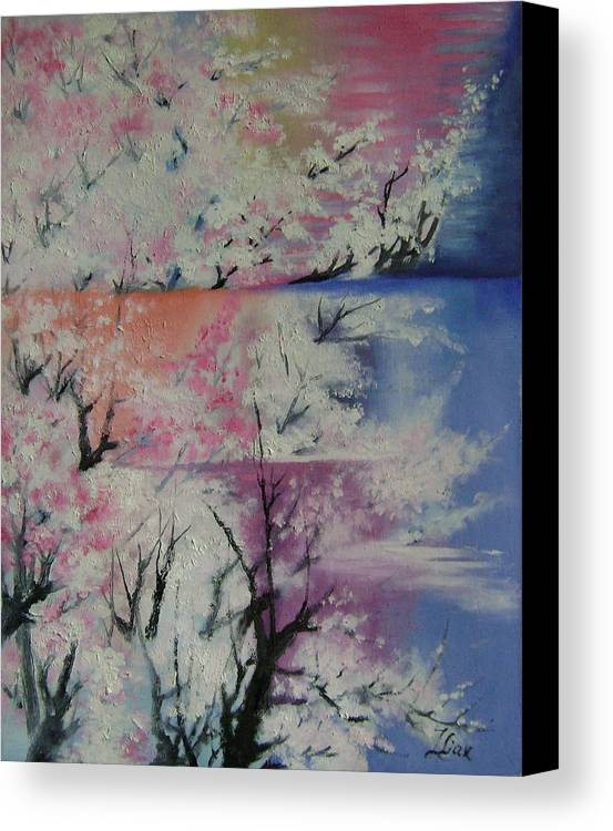Abstract Canvas Print featuring the painting Spring by Lian Zhen
