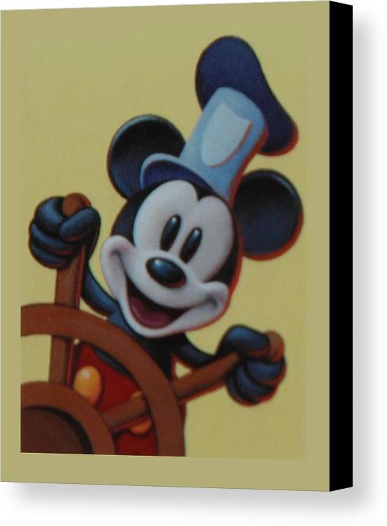 Disney Canvas Print featuring the photograph Steamboat Willy by Rob Hans